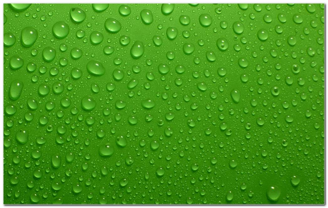 Green Background Wallpaper. Green Dew Drops