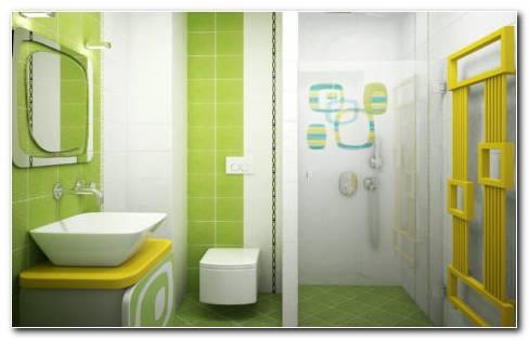 Green Bathroom HD Wallpaper