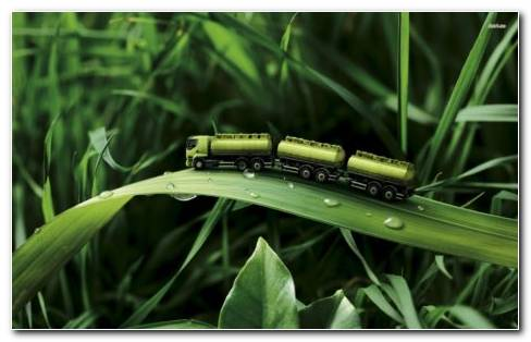 Green Miniature Toy HD Wallpaper