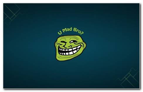 Green Troll Face Wallpaper