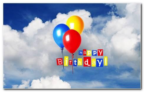 Happy Birthday Balloons HD Wallpaper