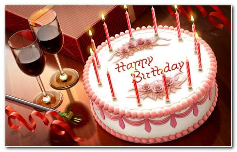 Happy Birthday Gift Cake HD Wallpaper