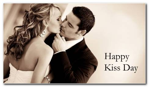 Happy Kiss Day HD Wallpaper