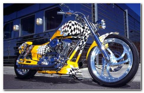 Harley Davidson Yellow HD Wallpaper