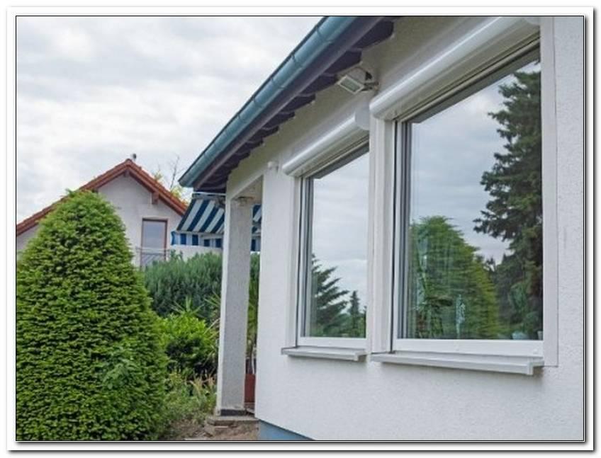 Hausbau Verspiegelte Fenster