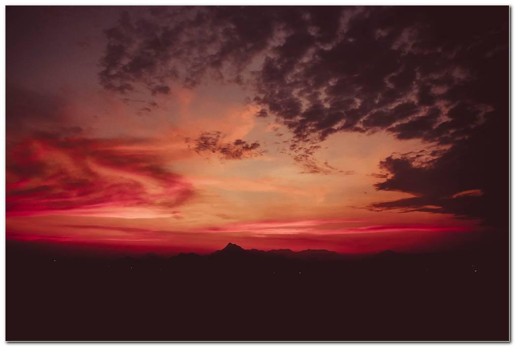Hd Mountains Sunset Wallpaper