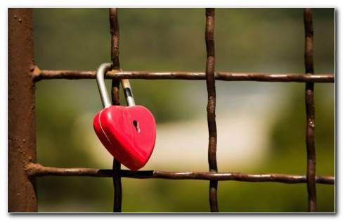 Heart Lock HD Wallpaper