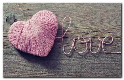 Heart Made Of String HD Wallpaper
