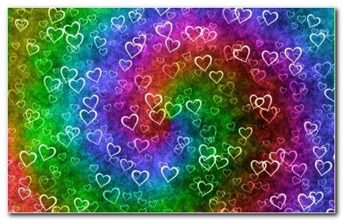 Heart Pattern Background HD Wallpaper