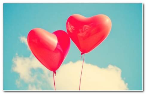 Heart shaped balloons HD wallpaper