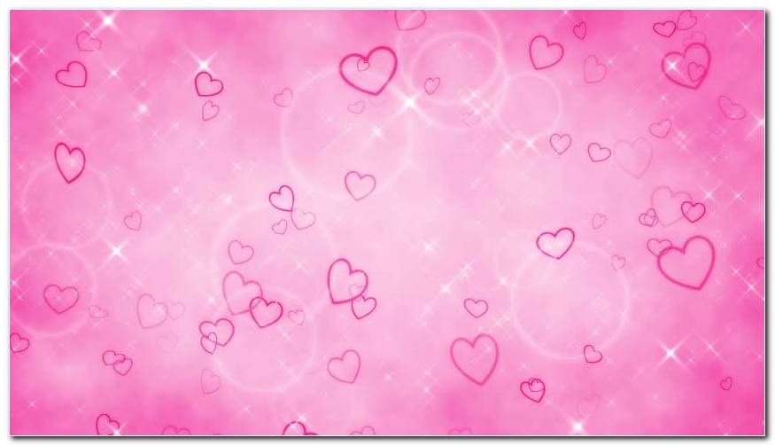 Hearts And Curves Pink Background Wallpaper
