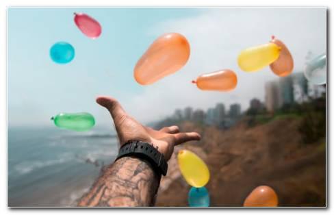 Helium Balloons HD Wallpaper