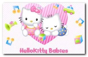 Hello Kitty Babies HD Wallpaper