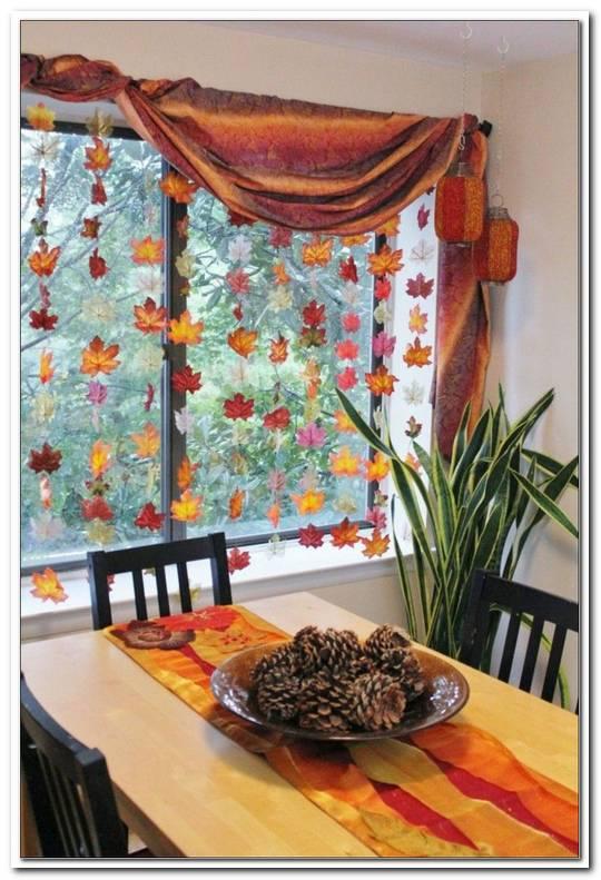 Herbst Dekoration Fenster