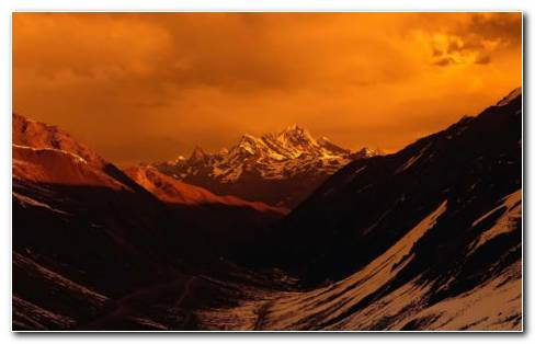 Himalayan Sunset HD Wallpaper