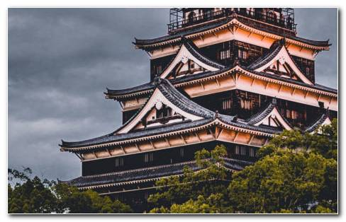 Hiroshima Castle HD Wallpaper