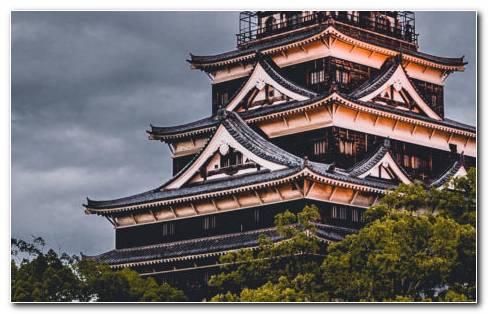 Hiroshima Castle HD Wallpaper