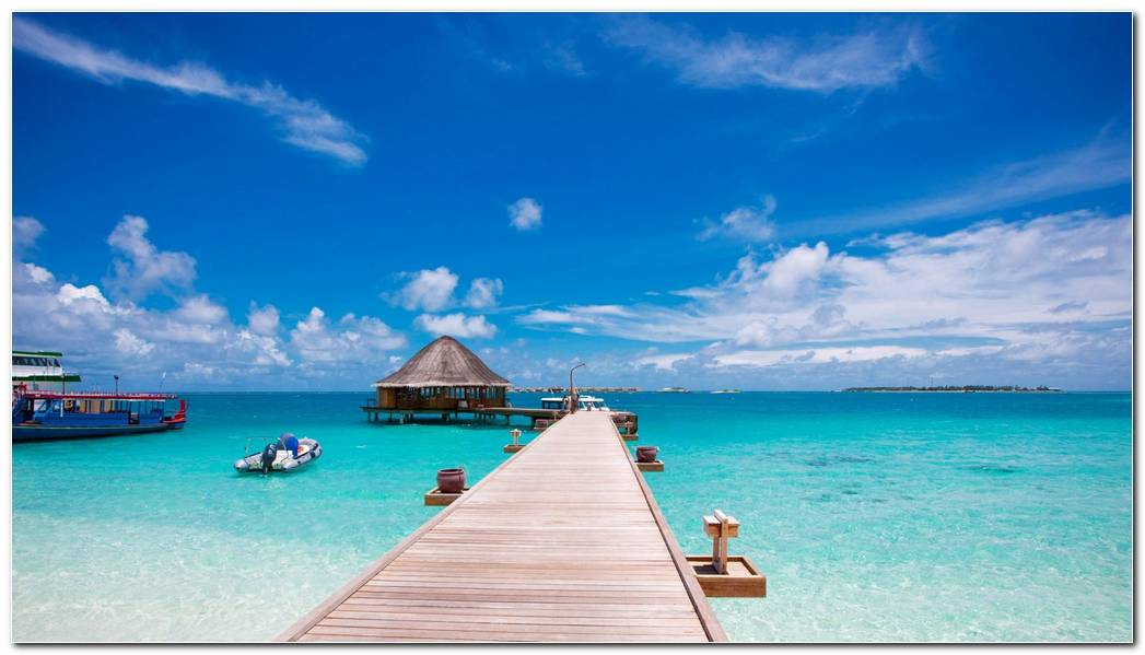 Holiday Beach Summer Sea Vacation Pier Nature Wallpaper For Windows