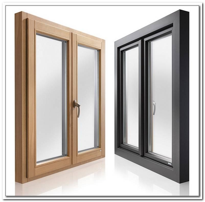 Holz Alu Fenster Holzoptik
