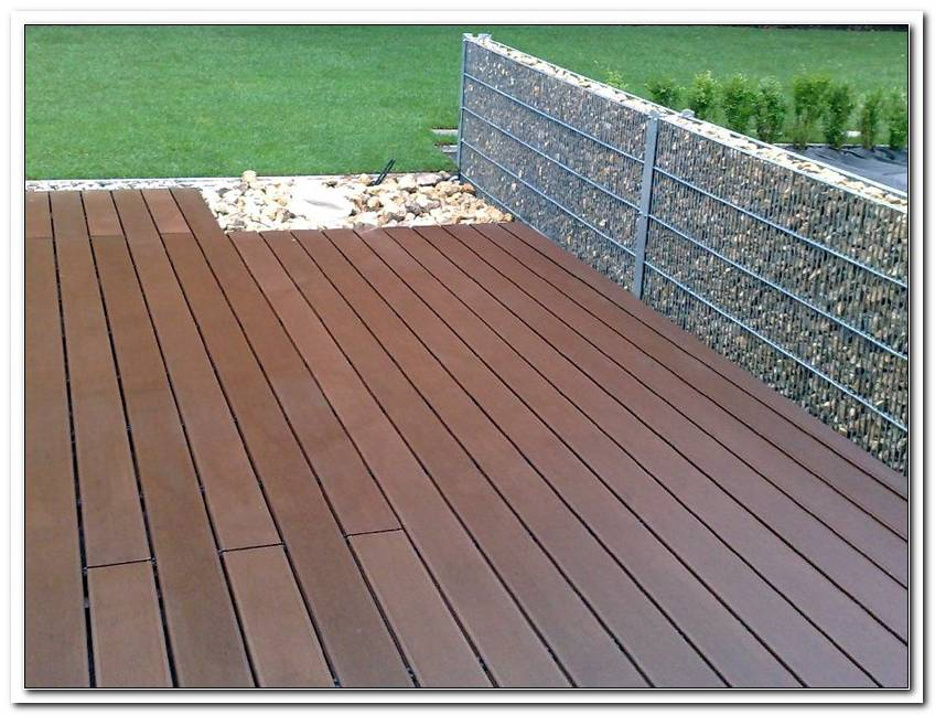 Holzimitat Terrasse