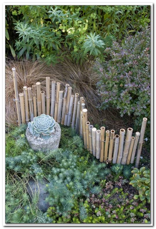 Holzpalisaden Garten