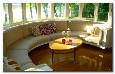 Home Goods. Beautiful Home Living Room With Sofas Yellow Table And Several Windows