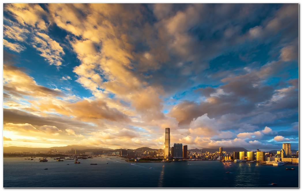 Hongkong Sunset Wallpaper Hd