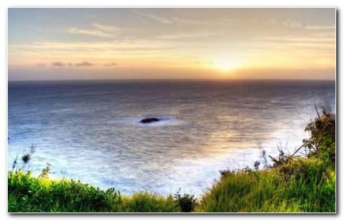 Horizon over the garden HD wallpaper