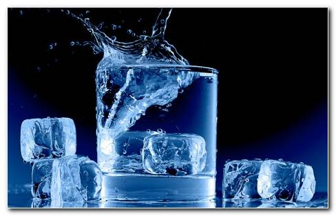 Ice Cubes Square Shapes HD Wallpaper