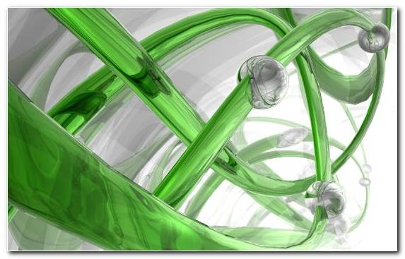 Image 3d Green White Glass