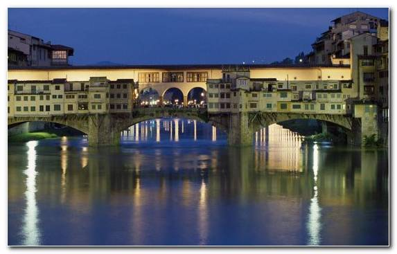 Image Arno Waterway City Landmark Arch Bridge