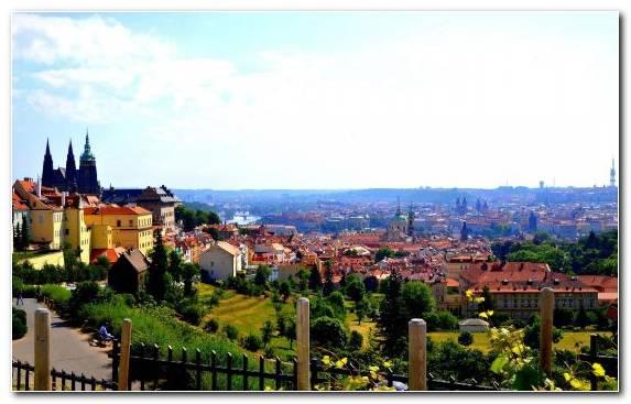 Image Backpacker Hostel Tourist Attraction Horizon Town Praha
