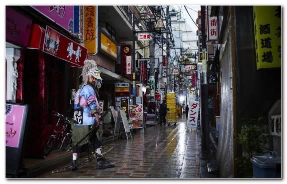 Image Bar Osaka City Pedestrian Public Space