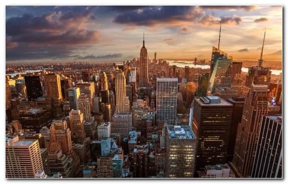 Image Chrysler Building City Lower Manhattan Metropolis Capital City