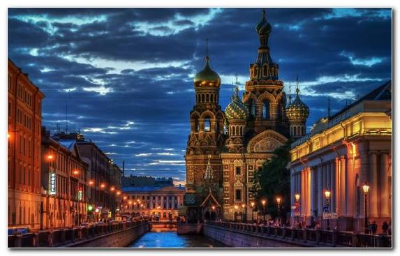 Image Church Of The Savior On Blood Reflection Cityscape Tourist Attraction Landmark