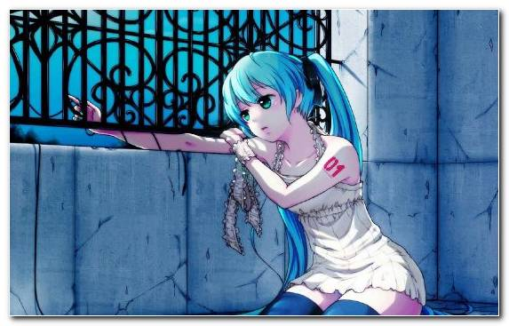 Image Crying Blue Animated Cartoon Hatsune Miku Cartoon