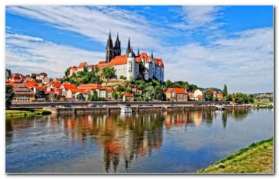 Image Czech Republic Dresden Bank Elbe Tourist Attraction