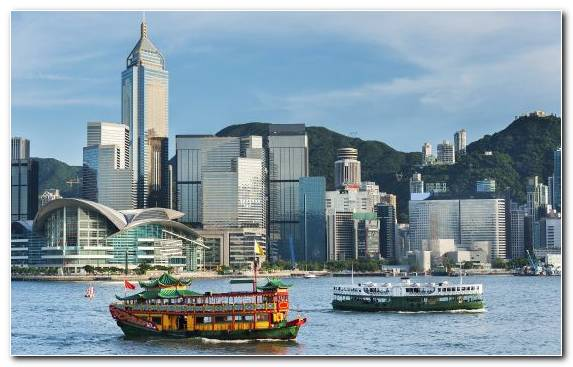 Image Guidebook Hong Kong Cruise Ship Cityscape Daytime
