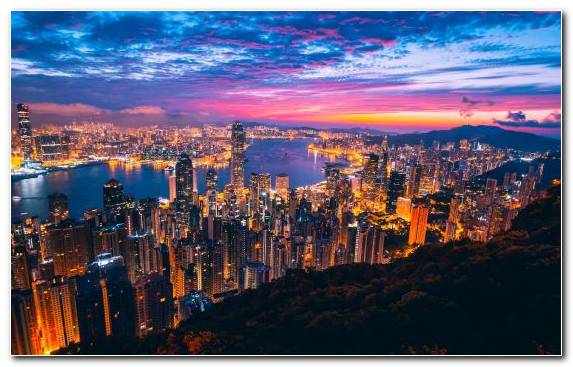 Image Hong Kong Skyline city horizon capital city Hong Kong