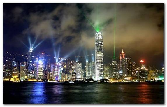 Image Hong Kong Night United States Of America City Cityscape