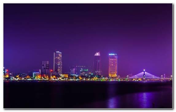 Image Hue skyline reflection capital city night