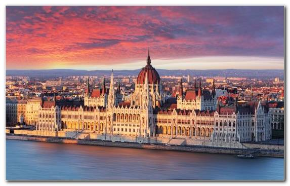 Image Hungarian Parliament Building Capital City Urban Area Cityscape Horizon