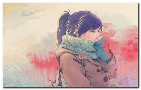 Image Kawaii pink drawing painting woman