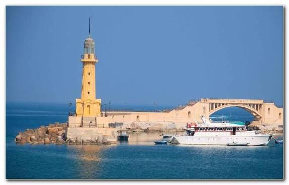 Image Lighthouse Sea Tranquillity Calm Tourism