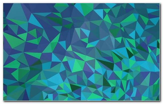 Image Low Poly Polygon Line Pattern Green