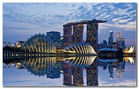 Image Marina Bay Sands Singapore Water Capital City Skyline Cityscape