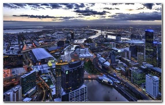 Image Melbourne Town Cityscape City Sky