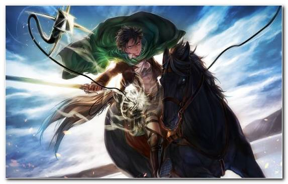 Image Mikasa Ackerman Levi Attack On Titan Sky Anime