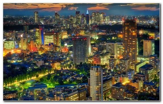 Image Osaka kyoto birds eye view tokyo night