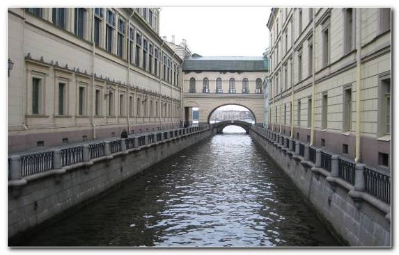 Image Peter And Paul Fortress Canal Water Facade Tourist Attraction